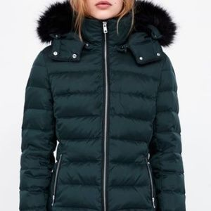 NWT Zara Hooded down puffer jacket